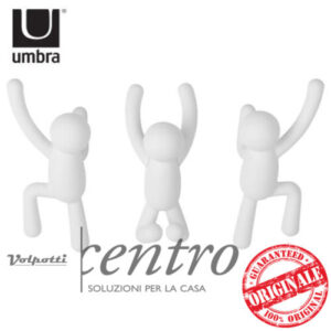 UMBRA BUDDY HOOKS APPENDIABITI DA PARETE MURO 3 OMINI ATTACCAPANNI - Volpotti Gubbio