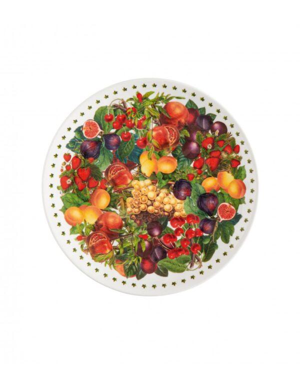 Piatto piano frutta o dessert cm 21,5 in melamina 100% - Casamica Gubbio