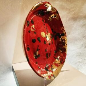Piatto maiolica policroma - Unico Ceramica Gubbio