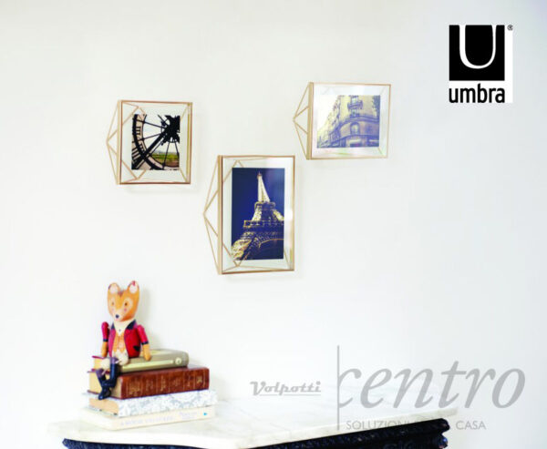 UMBRA PRISMA CORNICE PORTAFOTO METALLO VETRO APPOGGIO PARETE - Volpotti Gubbio