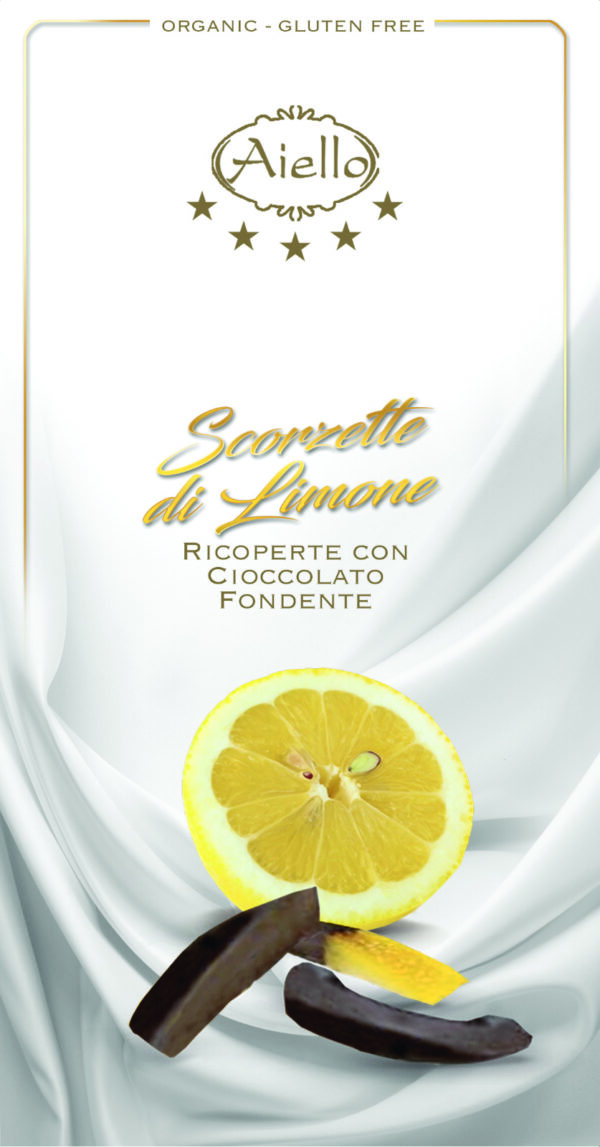 Scorze limone ricoperte con cioccolato fondenteAngolo del Biologico Gubbio