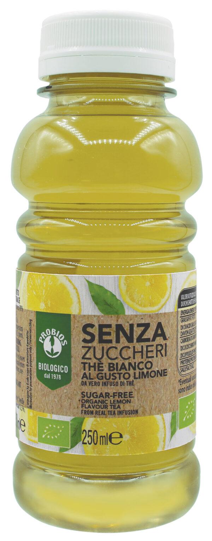Thè Bianco al Limone biologico senza zuccheri 250 ml Angolo del Biologico Gubbio