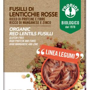 Fusilli di lenticchie Rosse 250 gr. Angolo del Biologico Gubbio