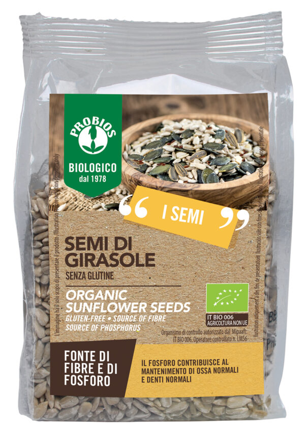 Semi di Girasole Bio Senza Glutine 300 gr Angolo del Biologico Gubbio