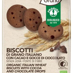 Biscotti di grano italiano con cacao e giovedì cioccolato Bio Angolo del Biologico Gubbio
