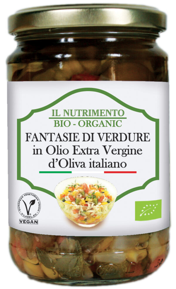 Fantasia di verdure biologiche con olio extravergine di oliva Senza Glutine Angolo del Biologico Gubbio