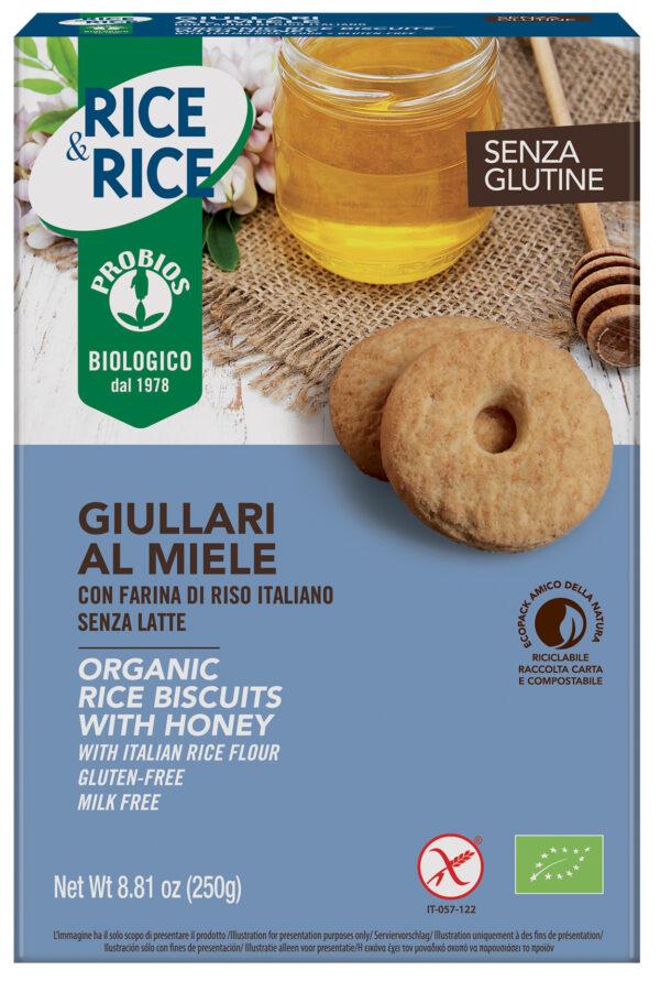 Giullari al Miele Biscotti biologici con farina di riso italiano. Senza Glutine e latte Angolo del biologico Gubbio